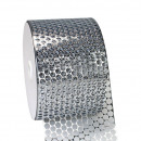 Perforated film, width 85 mm, length 46 m, silver